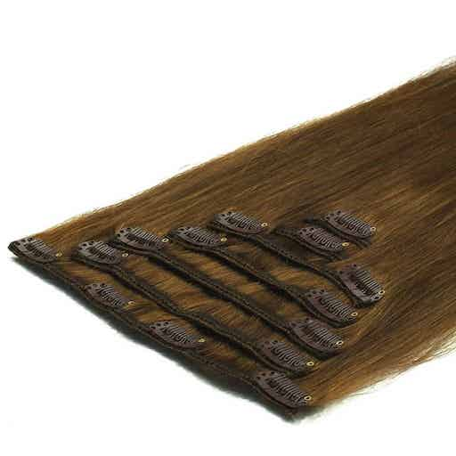 Clip In Extensions 50cm 70g 08 Hellbraun-0