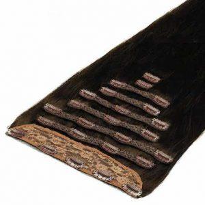 Clip in Extensions Deluxe 50cm 200g 1C Mokkabraun-0