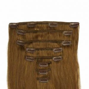 Clip In Extensions 60cm 160g 08 Hellbraun-0