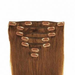 Clip In Extensions 60cm 160g 06 Dunkles Kastanienbraun-0