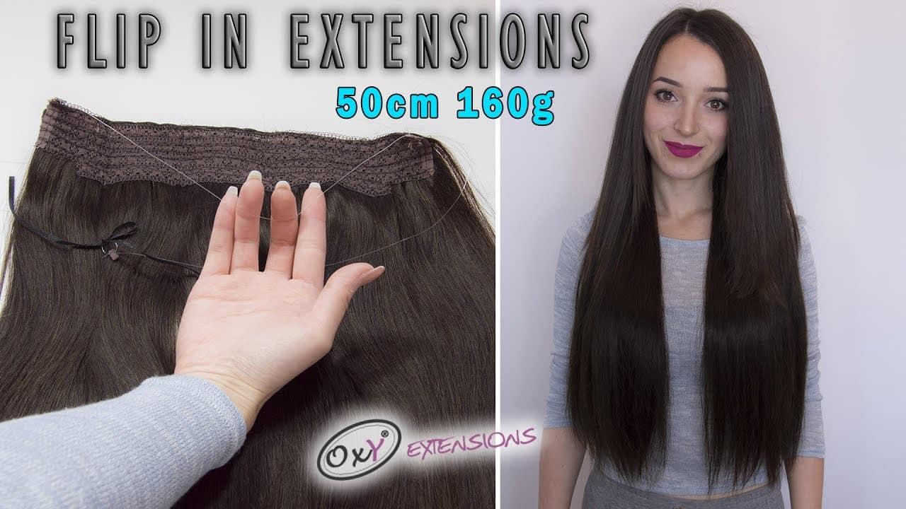 Premium flip-in extensions 55cm 160g